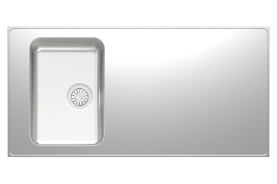 E Seven Kitchen Worktop, Stainless Steel   Stala